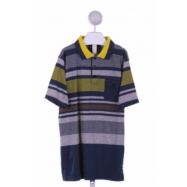 SEAN JOHN   BLUE  STRIPED  KNIT SS SHIRT