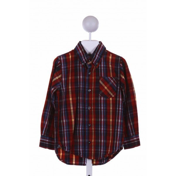 KITESTRINGS  RED  PLAID  CLOTH LS SHIRT