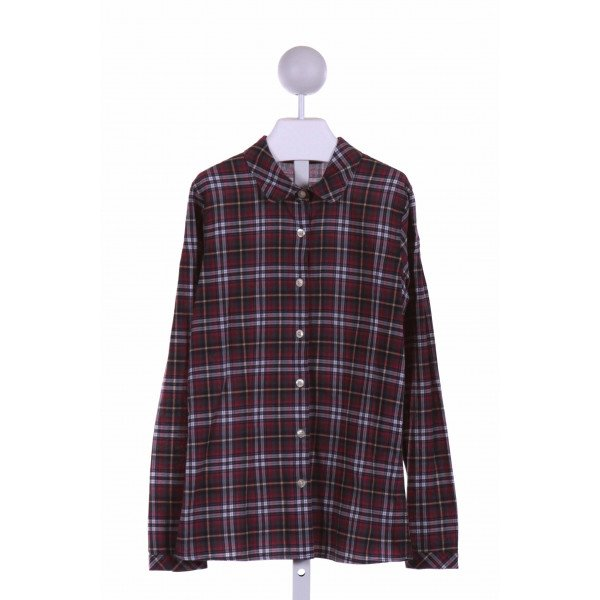 BURBERRY  PURPLE  PLAID  DRESS SHIRT
