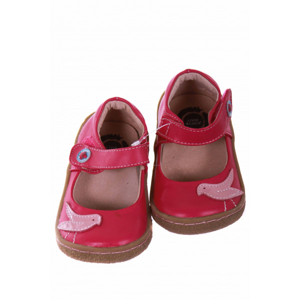 LIVIE AND LUCA PINK SHOES WITH BIRD *SIZE 6 *EUC