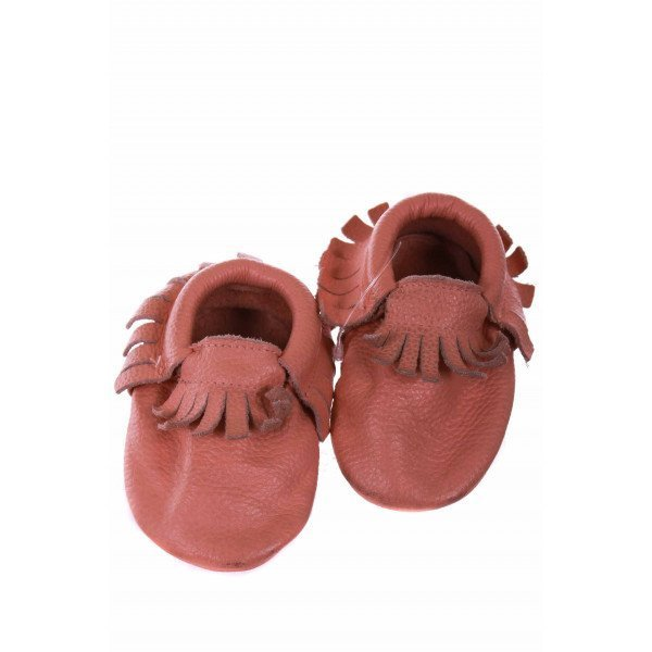 NO TAG PINK LEATHER MOCCASINS *RUNS LIKE A SIZE 3 *EUC