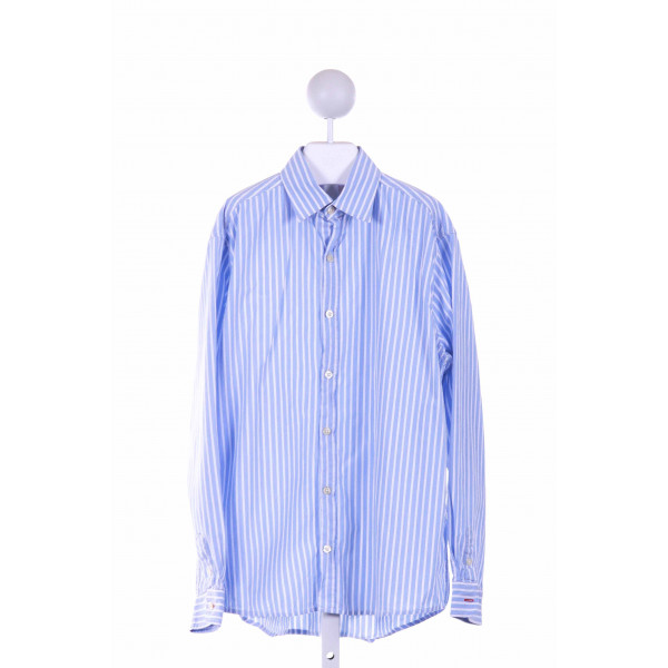 MINI BODEN  BLUE  STRIPED  DRESS SHIRT
