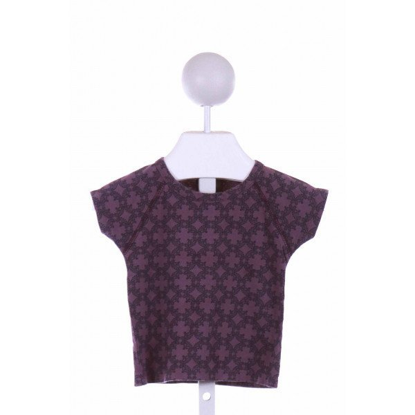 KATE QUINN  PURPLE  PRINT  KNIT SS SHIRT