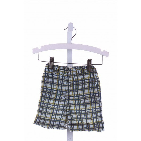 KATE QUINN  BLUE  PLAID  SHORTS