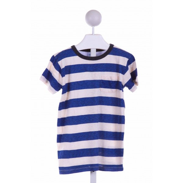CREWCUTS  BLUE  STRIPED  KNIT SS SHIRT