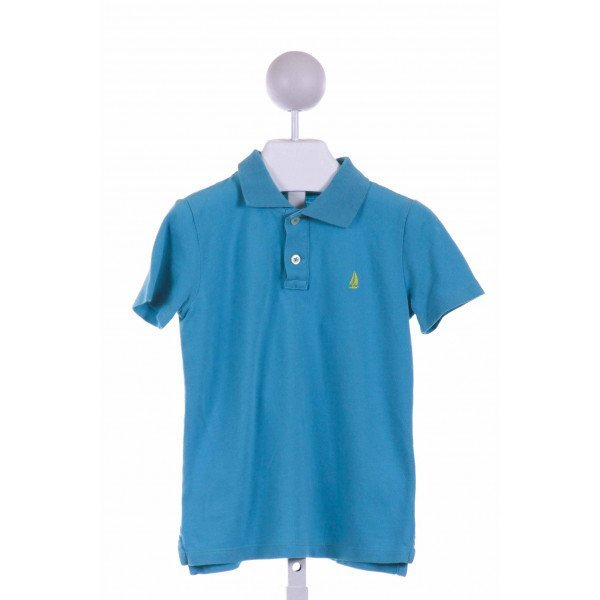 CREWCUTS FACTORY  AQUA    KNIT SS SHIRT