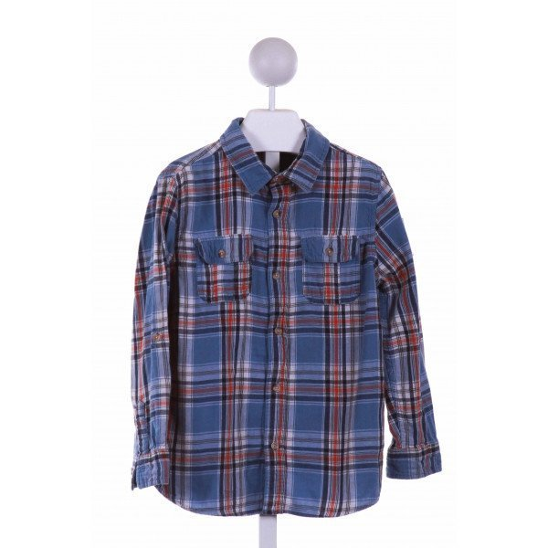 JOE FRESH  BLUE  PLAID  CLOTH LS SHIRT