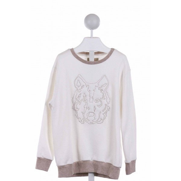 ZARA  OFF-WHITE   EMBROIDERED SWEATER