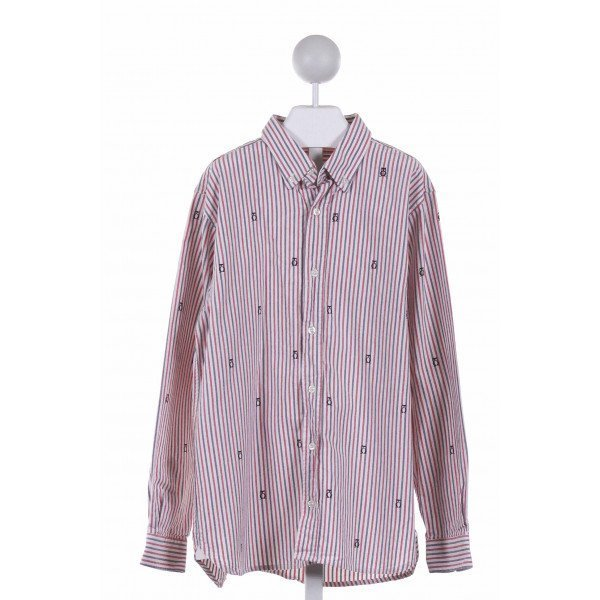 KITESTRINGS  RED  STRIPED PRINTED DESIGN CLOTH LS SHIRT