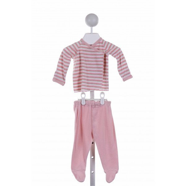 UNDER THE NILE  PINK KNIT STRIPED  2-PIECE OUTFIT