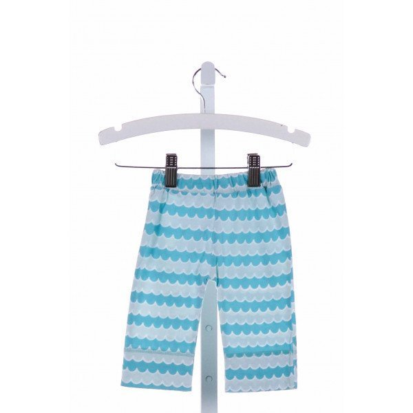 KATE QUINN  BLUE KNIT  PRINTED DESIGN PANTS