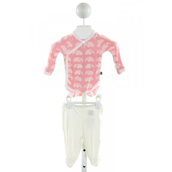 KICKEE PANTS  PINK   PRINTED DESIGN 2-PIECE OUTFIT