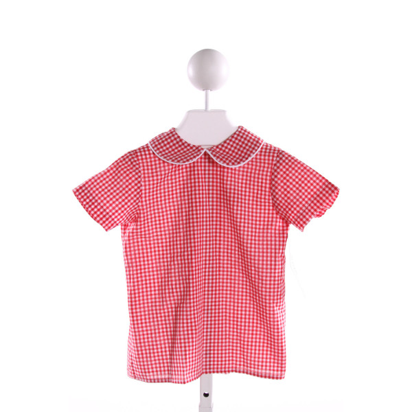 LULLABY SET  RED  GINGHAM  CLOTH SS SHIRT