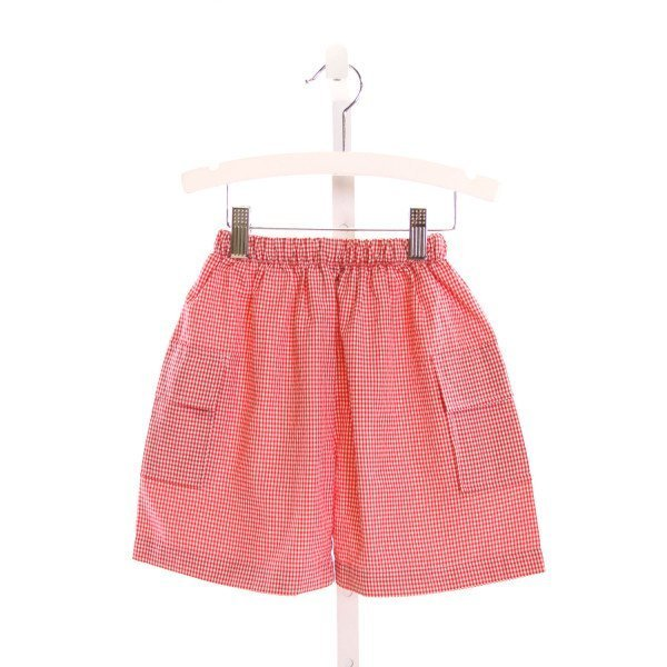 SEW CHILDISH  RED  GINGHAM  SHORTS