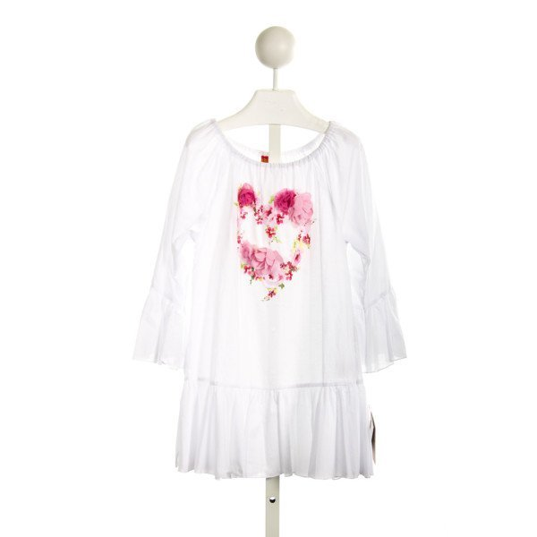KATE MACK WHITE KNIT DRESS WITH HEART