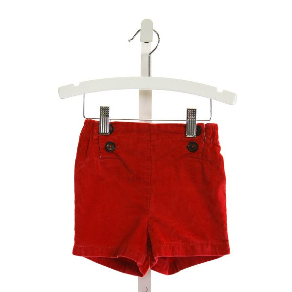 BABY BODEN  RED CORDUROY   SHORTS