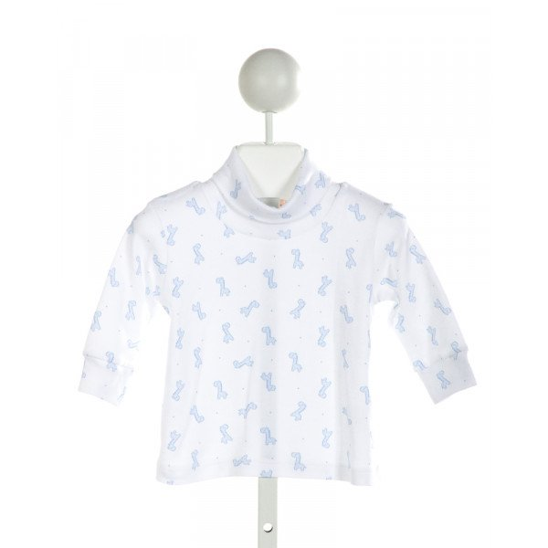 LUIGI  WHITE  POLKA DOT PRINTED DESIGN KNIT LS SHIRT