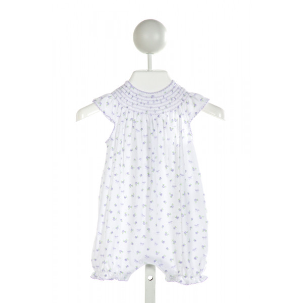 KISSY KISSY  WHITE  FLORAL SMOCKED LAYETTE WITH PICOT STITCHING