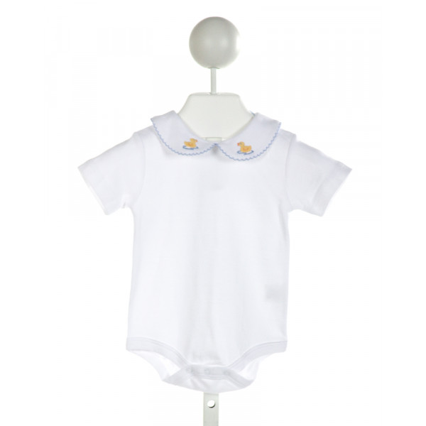 LITTLE ENGLISH  WHITE   EMBROIDERED LAYETTE WITH PICOT STITCHING
