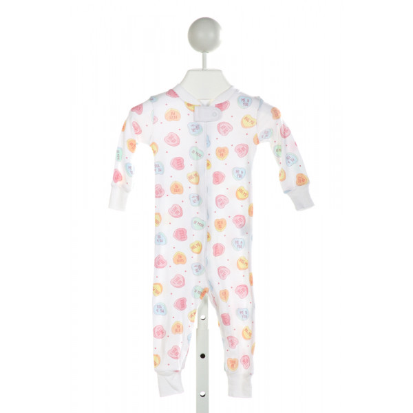 MAGNOLIA BABY  OFF-WHITE   PRINTED DESIGN KNIT ROMPER