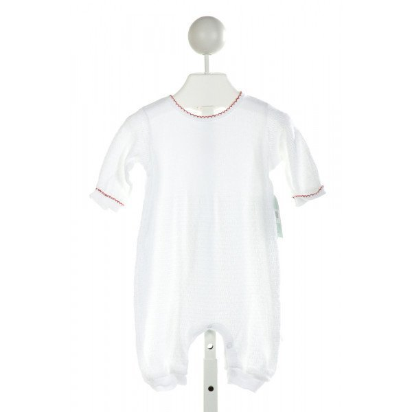 PATY, INC  OFF-WHITE   SMOCKED LAYETTE WITH PICOT STITCHING