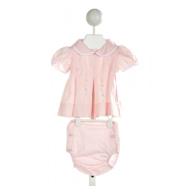 LULLABY SET  PINK   EMBROIDERED 2-PIECE OUTFIT