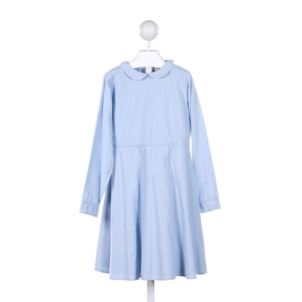 OLIVE JUICE  LT BLUE CORDUROY   PARTY DRESS