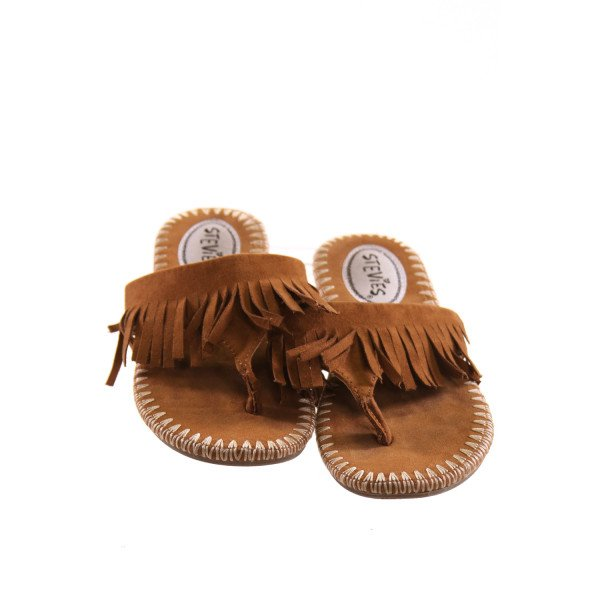 STEVIES BROWN SANDALS WITH FRINGE *SIZE 1.5, EUC
