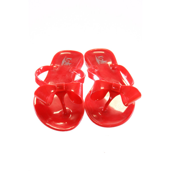 KALI RED SANDALS *SIZE 2, VGU - MINOR SCRATCHES