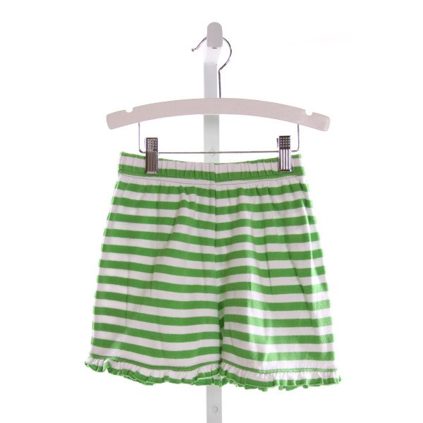 RAGSLAND  LT GREEN  STRIPED  SHORTS WITH RUFFLE