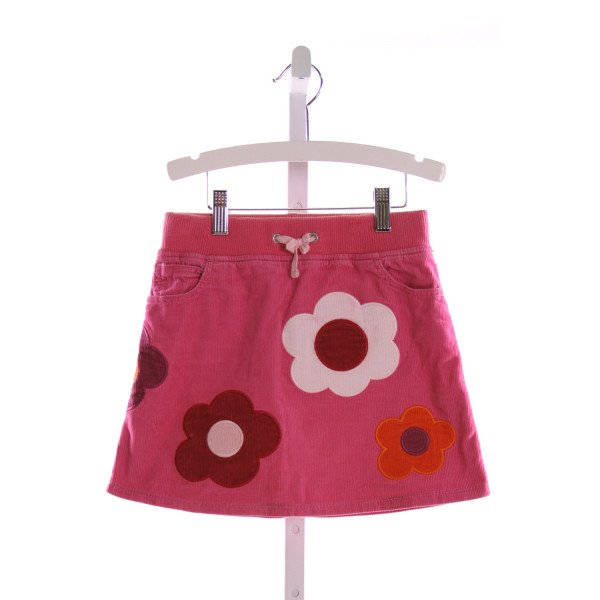 MINI BODEN  PINK CORDUROY  EMBROIDERED SKIRT