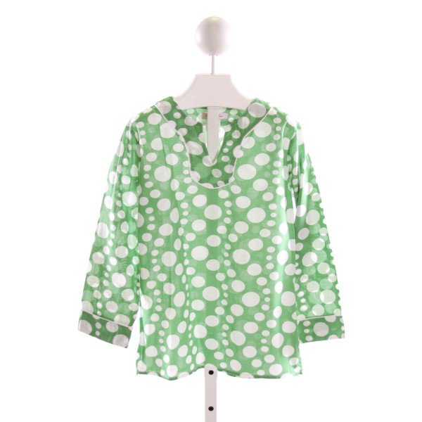 KAYCE HUGHES  GREEN  POLKA DOT  CLOTH LS SHIRT