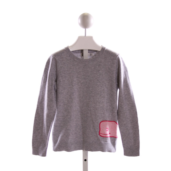 VINEYARD VINES  GRAY   EMBROIDERED SWEATER