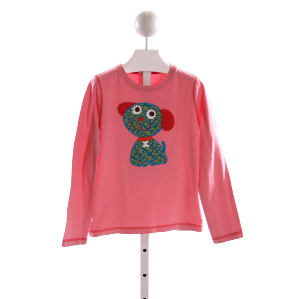 MINI BODEN  PINK   EMBROIDERED KNIT LS SHIRT
