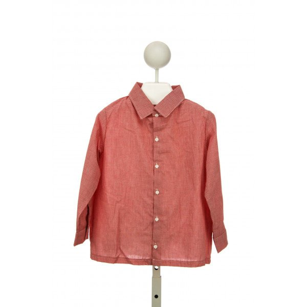 LITTLE LAUNDRY WALKER SHIRT IN L/S RED MICRO GINGHAM