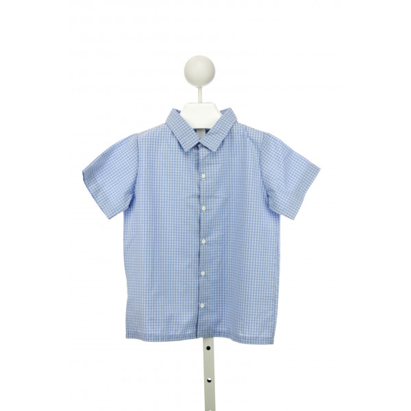 LITTLE LAUNDRY WALKER SHIRT S/S IN CORNFLOWER PLAID