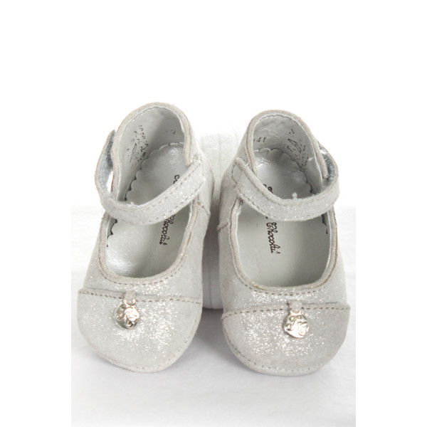 TARTINE ET CHOCOLAT SILVER INFANT SHOES
