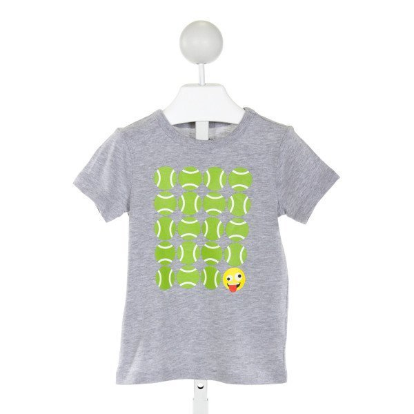 CREWCUTS  GRAY   PRINTED DESIGN T-SHIRT