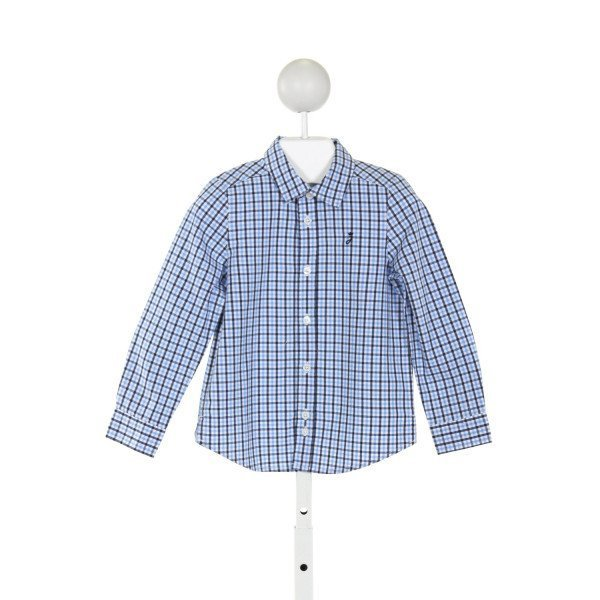 JACADI  LT BLUE  GINGHAM  CLOTH LS SHIRT