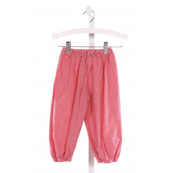 HOLLYWOOD BABY  RED  GINGHAM  PANTS