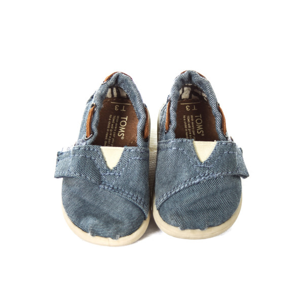 TOMS DENIM SHOES INFANT SIZE 3