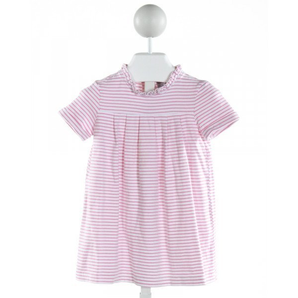 BUSY BEES  LT PINK    KNIT DRESS WITH RUFFLE