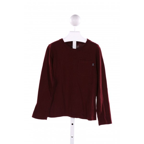 E-LAND  MAROON    KNIT LS SHIRT