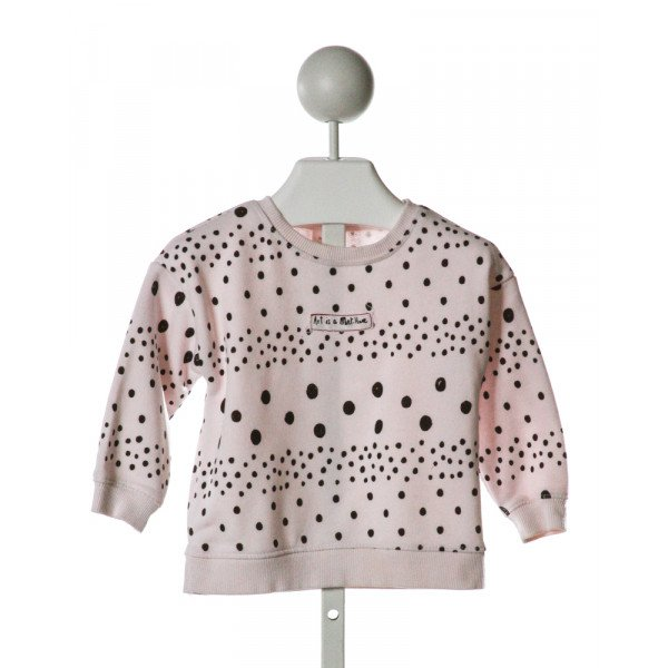 ZARA  LT PINK  POLKA DOT EMBROIDERED SWEATER
