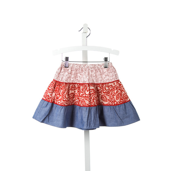 BEST & CO. RED AND BLUE PEASANT SKIRT WITH RIC RAC