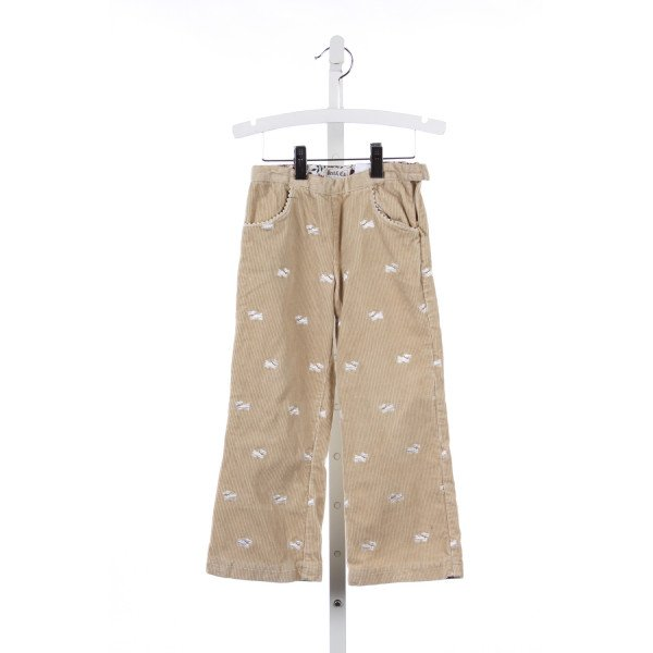 BEST AND CO. IVORY CORDUROY AND DOG PRINT PANTS