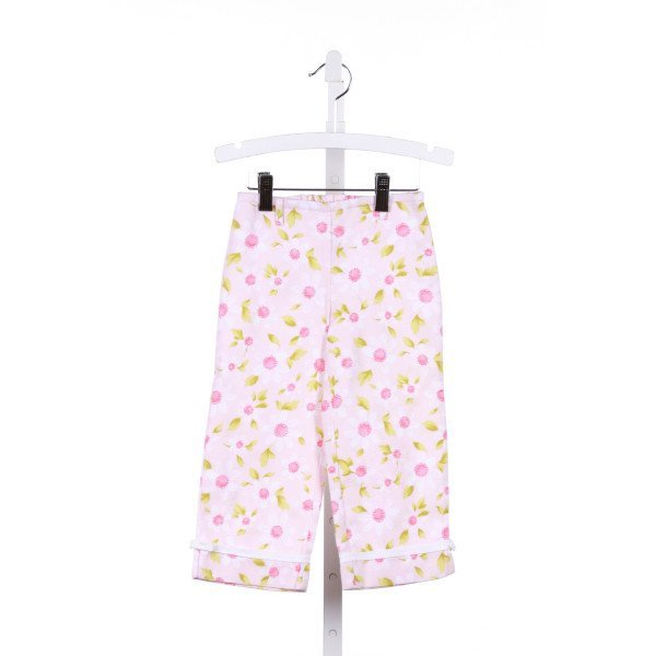 BEST & CO.  PINK PIQUE FLORAL  PANTS