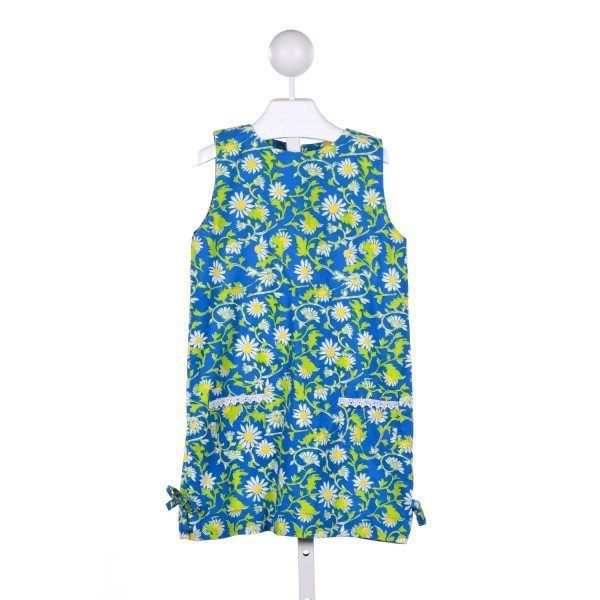 LITTLE B'S  BLUE  FLORAL  CASUAL DRESS