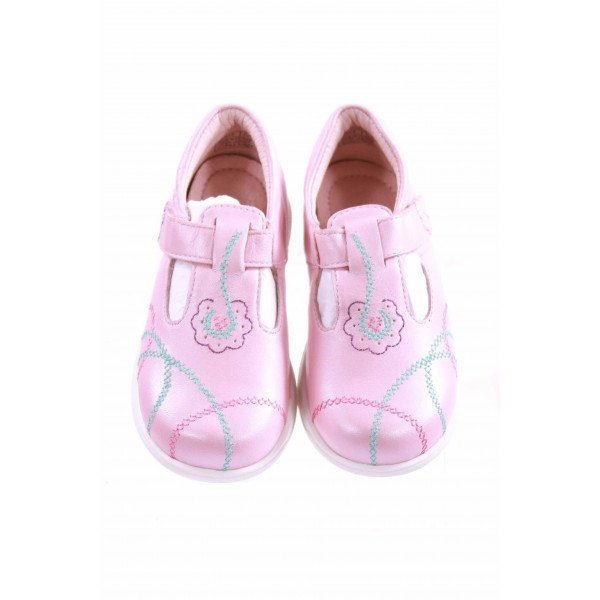 UMI KIDS PINK EMBROIDERED LEATHER MARY JANES *SIZE 8 *NWOT