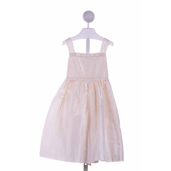 LULI & ME  CREAM    PARTY DRESS WITH RUFFLE